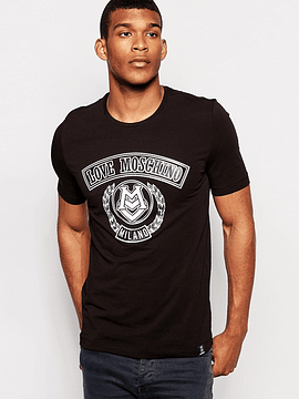 Love Moschino Milano Black T-Shirt
