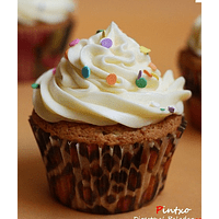 Cream Color Chips Cupcake