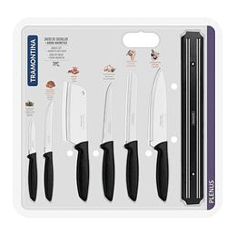 Juego de cuchillos + barra magnética