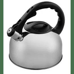 Tetera de acero inoxidable con silbato 2,5L