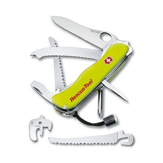 Navaja Suiza para rescate (Rescue Tool) Amarilla fosforescente