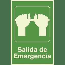 Señales de Evacuación - Salida de Emergencia - Fotoluminiscente