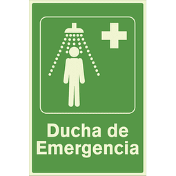 Señales de Evacuación - Ducha de Emergencia - Fotoluminiscente