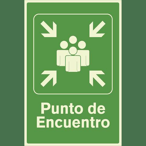 Señales de Evacuación - Punto de Encuentro - Fotoluminiscente