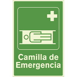 Señales de Evacuación - Camilla de Emergencia - Fotoluminiscente