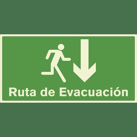 Señales de Evacuación - Ruta de Evacuación - Fotoluminiscente