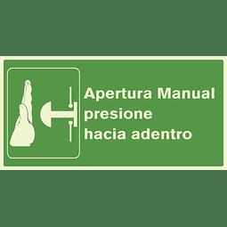 Señales de Evacuación - Apertura Manual - Fotoluminiscente
