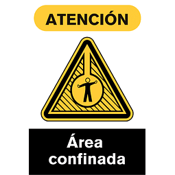 Señales de Advertencia - Área confinada
