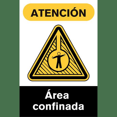 Señales de Advertencia - Área confinada