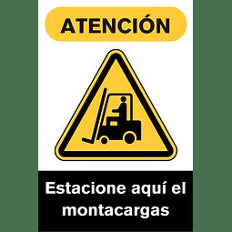 Señales de Advertencia - Estacione aquí el montacargas
