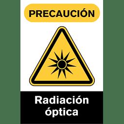 Señales de Advertencia - Radiación óptica