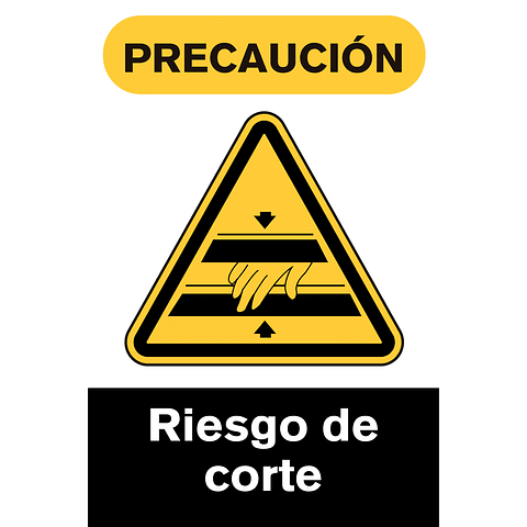 Señales de Advertencia - Riesgo de corte