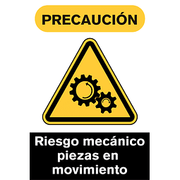 Señales de Advertencia - Riesgo mecánico piezas en movimiento