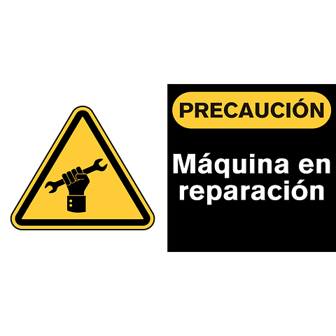 Señales de Advertencia - Máquina en reparación