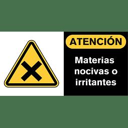 Señales de Advertencia - Materias nocivas o irritantes