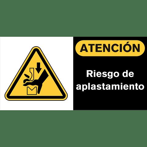 Señales de Advertencia - Riesgo de aplastamiento