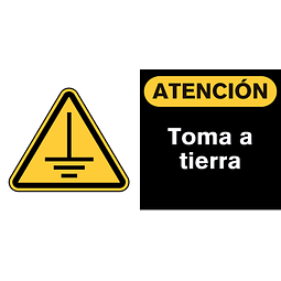 Señales de Advertencia - Toma a tierra