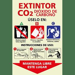 Señales informativas - Extintor CO2