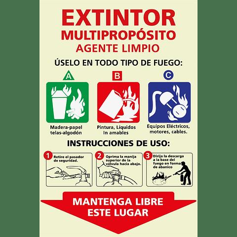 Señales informativas - Extintor Agente Limpio