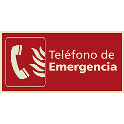 Señales de Incendio - Teléfono de Emergencia
