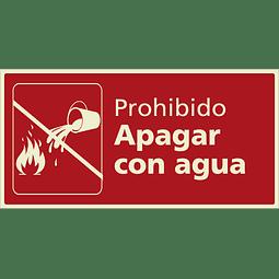 Señales de Incendio - Prohibido apagar con agua
