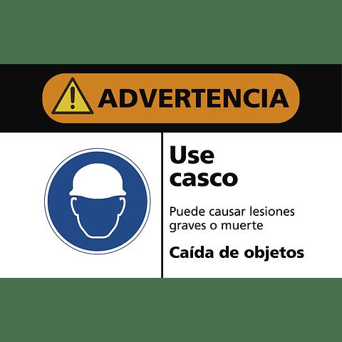Señales de Advertencia - Use casco