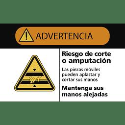 Señales de Advertencia - Riesgo de corte o amputación