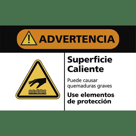 Señales de Advertencia - Superficie caliente