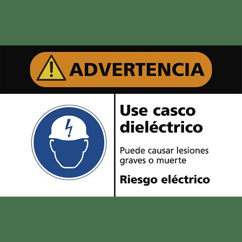 Señales de Advertencia - Use casco dieléctrico