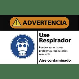 Señales de Advertencia - Use respirador