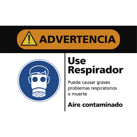 Señales de Advertencia - Use respirador