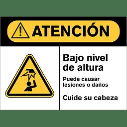 Señales de Advertencia - Bajo nivel de altura