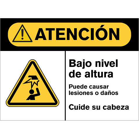 Señales de Advertencia - Bajo nivel de altura