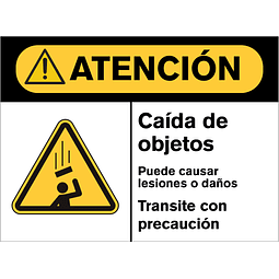 Señales de Advertencia - Caída de objetos