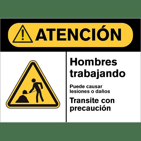 Señales de Advertencia - Hombres trabajando