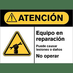 Señales de Advertencia - Equipo en reparación