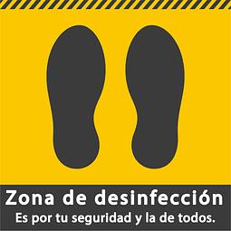Señales de Bioseguridad - Huellas - Zona de desinfección