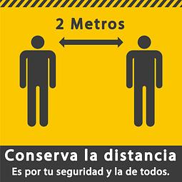 Señales de Bioseguridad - Conserva la distancia - 2 Metros