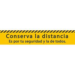 Señales de Bioseguridad - Conserve la distancia