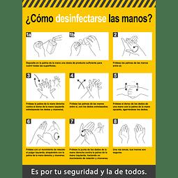 Señales de Bioseguridad - Protocolo, ¿Cómo desinfectarse las manos?