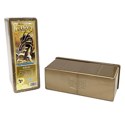 Portamazo para 4 Mazos Dorado - Dragon Shield Storage Box
