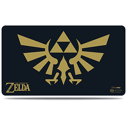 Ultra Pro The Legend Of Zelda: Black & Gold Playmat Con Porta Playmat