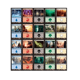 Pack de 80 tierra básicas de Return to Ravnica - Magic The Gathering