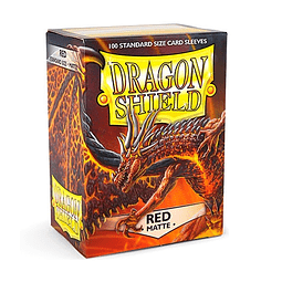 Protector Dragon Shield STANDARD MATTE Sleeves (100) - Red