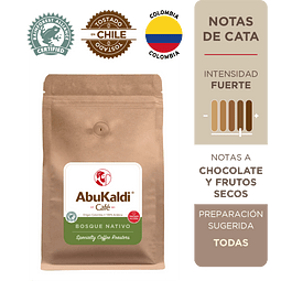 Café Bosque Nativo, grano 500g.