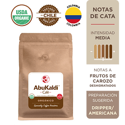 Café Orgánico, grano 500g.