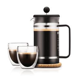 Pack Prensa + 2 vasos + Café