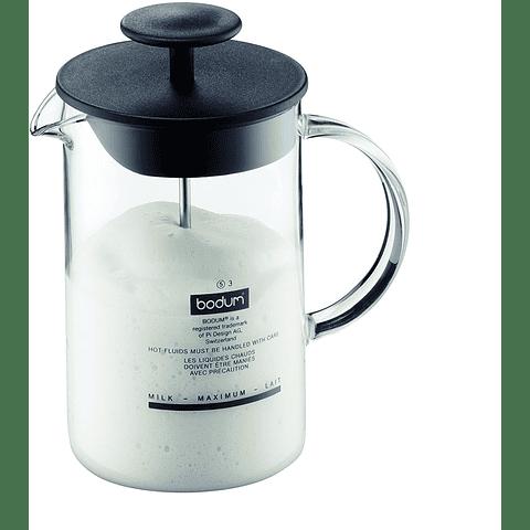 Espumador de leche, Latteo (vidrio).