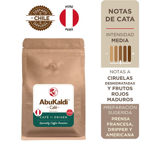 Café Perú, grano 500g.