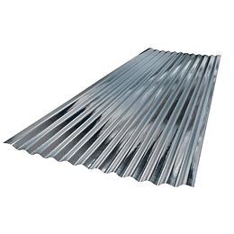 Teja De Zinc 0.80X3.048 Mts Calibre 35 (0.20Mm) Acesco
